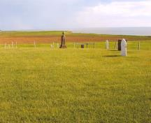 Showing overview of cemetery; PEI Genealogical Society, George Sanborn Jr., 2009