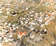 Aerial view of Old Wendake Historic District, 2005.; Parks Canada Agency / Agence Parcs Canada, 2005