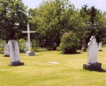 Overview of cemetery grounds; PEI Genealogical Society, George Sanborn Jr., 2009