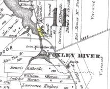 Cemetery is located in highlighted area; Meacham's Illustrated Historical Atlas of PEI, 1880