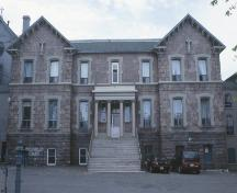 Presentation Convent Motherhouse, Cathedral Square, St. John's, NL, exterior photo, main facade. Taken 2004.; Heritage Foundation of Newfoundland and Labrador, 2005