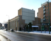 View of rear elevation from the northeast of the Ukrainian Labor Temple, Winnipeg, 2005; Historic Resources Branch, Manitoba Culture, Heritage and Tourism, 2005