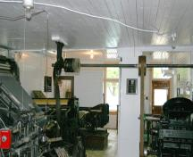 Interior view of the Courier Publishing Company Building, Crystal City, 2005; Historic Resources Branch, Manitoba Culture, Heritage and Tourism, 2005