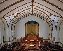 Interior view of  Westminster United Church, Winnipeg, 2007; Historic Resources Branch, Manitoba Culture, Heritage and Tourism, 2007