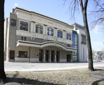 Primary elevation, from the northeast, of Pantages Playhouse Theatre, Winnipeg, 2007; Historic Resources Branch, Manitoba Culture, Heritage, Tourism and Sport, 2007