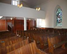 Interior view of Old Kildonan Presbyterian Church, Winnipeg, 2005; Historic Resources Branch, Manitoba Culture, Heritage and Tourism, 2005