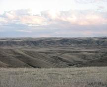 View of the river valley from the south end of the site, 2007.; Government of Saskatchewan, Marvin Thomas, 2007.
