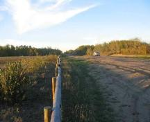 Looking north at site area on either side of road (note sandy soil), 2004.; Government of Saskatchewan, Marvin Thomas, 2004.