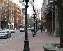 General view of Water Street, within the Gastown Historic District National Historic Site of Canada, 2008.; Andrew Waldron, Parks Canada Agency / Agence Parcs Canada, 2008.