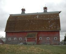 Side view of the barn - east aspect; James Winkel, 2009.