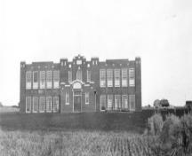 Grande Prairie High School (circa 1935); South Peace Regional Archives, Standard Number 1993.40.1b