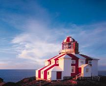 Exterior photo of Cape Bonavista Lighthouse, Provincial Historic Site, situated at the tip of the Bonavista peninsula. ; HFNL 2005