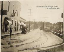 International Bridge leading to Calais, Maine, from St. Stephen; Provincial Archives of NB