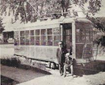 Trolley car; Provincial Archives of NB