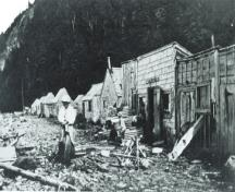 The aboriginals would come to Indian Beach on Grand Manan Island in the summertime to harvest porpoise and fish.; Grand Manan Archives photo collection - P8