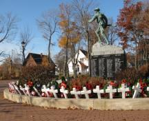 Memorial Square Veterans Memorial, Nov. 2009; Wyatt Heritage Properties