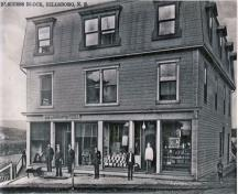 The Jordan Steeves Building opens in 1907 with its first tenant, The Livingstone Hardware store; Village of Hillsborough, William Henry Steeves House Museum archives