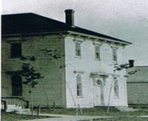 The picture of Forester Hall was taken circa 1898 after the Trinity United Church was buit next door. The hall was there long before this date.; Doris E. Kennedy