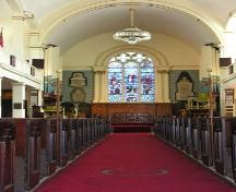Interior looking towards altar, St. Paul's Church, Halifax, 2005.; Heritage Division, NS Dept. of Tourism, Culture and Heritage, 2005.