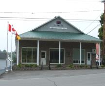 Image taken in 2009 of the exterior front entrance to Hartland Town Hall; Doris E. Kennedy