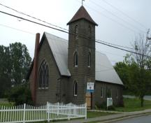 View of the front façade of the Holy Trinity Anglican Church in Hartland, NB; Doris E. Kennedy