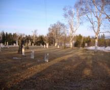 Showing overview of cemetery; Alberton Historical Preservation Foundation, 2009