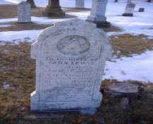 Showing stone with Masonic symbol; Alberton Historical Preservation Foundation, 2009