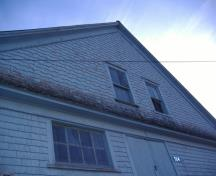 Detail of gable end; Alberton Historical Preservation Foundation, 2008