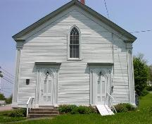 Front elevation, Smith's Cove Baptist Meeting House and Temperance Hall, 2005; Heritage Division, NS Dept. of Tourism, Culture and Heritage, 2005