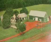 Aerial view of farm in the 1970s; Private Collection