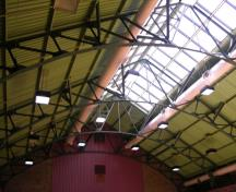 Interior trusses of former Masaryk Hall (Parkdale Curling Club) – 2006; OHT, 2006