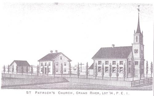 Engraving of church before W.C. Harris changes
