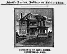 Rendering of similar design from Greenfield, Mass.; Scientific American, August 1888