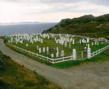 View of St. Peter's Anglican Cemetery, Twillingate, NL. Photo taken 2009. ; Town of Twillingate 2010