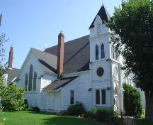 Zion Lutheran Church, Old Town Lunenburg, west façade, 2004; Heritage Division, NS Dept. of Tourism, Culture and Heritage, 2004