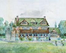 Rendering by R.P.S. Twizell, Architect; City of Burnaby, Visual Art Collection
