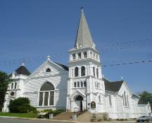 Zion Lutheran Church, Old Town Lunenburg, front  façade, 2004; Heritage Division, NS Dept. of Tourism, Culture and Heritage, 2004
