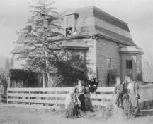 Historic view of Mohr House; Greater Vernon Museum & Archives photo #225, 1893