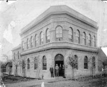 Historic view of Bank of Montreal; Greater Vernon Museum & Archives photo #3432, 1894