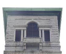 Dingle Tower, north window detail, Sir Sandford Fleming Park, Halifax, 2004.; Halifax Regional Municipality, 2004