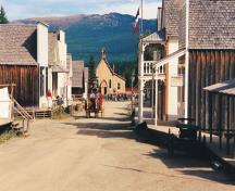 Barkerville's main street looking north; BC Heritage Branch