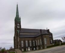 St. Michael's Basilica, side elevation, 2004.; City of Miramichi