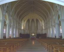 St. Michael's Basilica interior view, 2004.; City of Miramichi