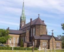 St. Michael's Basilica, rear elevation, 2004.; City of Miramichi
