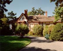 Exterior view of Point Ellice House and gardens; BC Heritage Branch, 2000