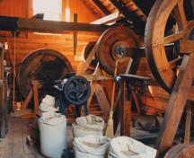 Grist Mill interior; BC Heritage Branch