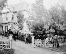 Image of the house taken c1890; Village of Dorchester