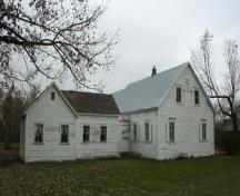 Detail view, from the southwest, of the Ens Heritage Homestead, Reinland, 2009; Historic Resources Branch, Manitoba Culture, Heritage and Tourism, 2009