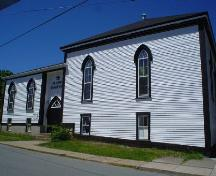 St. John's Parish Hall, Old Town Lunenburg, south façade, 2004; Heritage Division, NS Dept. of Tourism, Culture and Heritage, 2004