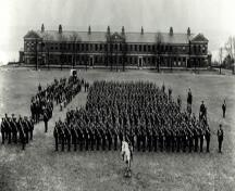 General view of Wellington House, showing the former parade square.; Parks Canada Agency/ Agence Parcs Canada, Public Archives of Canada